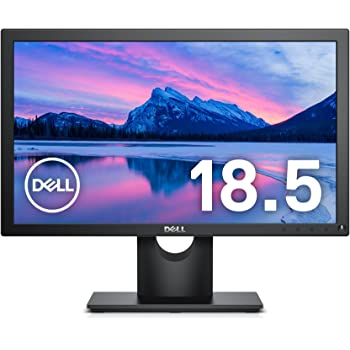 Dell モニター 18.5インチ HD/TN 非光沢/フリッカーフリー/DP,D-Sub/3年保証 E1916H