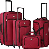 Euro Value II Collection- Deluxe 4 Piece Travel Set in Red