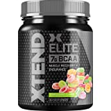 XTEND Elite BCAA Powder Sour Gummy | Sugar Free Post Workout Muscle Recovery Drink with Amino Acids | 7g BCAAs for Men & Wome