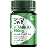 Nature's Own Vitamin B3 500mg - Supports energy levels - Supports skin health, 60 Tablets