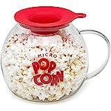 Epoca Inc. EKPCM-0025 Ecolution Micro-Pop Popper, Glass Microwave Popcorn Maker with Dual Function Lid, 3 Qt
