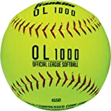 Franklin Sports Practice Softballs - Official Size and Weight Softball - Perfect For Softball Practice - Available in 1 and 4