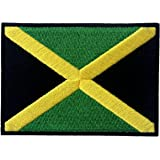 Jamaica Flag Embroidered Emblem Rasta Jamaican Rastafarian National Iron On Sew On Patch