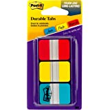 Post-it Tabs, 1 in, Solid, Red, Yellow, Blue, 22 Tabs/Color, 66 Tabs/On-the-Go Dispenser (686-RYB)