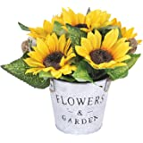 Dolicer Artificial Gerbera Flower, African Daisy Flower Bouquet, Silk Simulation Daisy Flower Fake Gerbera Daisy Flocking Ste