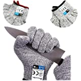 Dowellife Cut Resistant Gloves Food Grade Level 5, Safety Kitchen Cuts Gloves