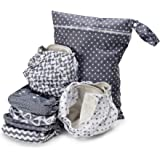 Simple Being Unisex Reusable Baby Cloth Diapers, Washable Adjustable Eco-Friendly, Soft Super Absorbent Fabric with Waterproo