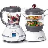BABYMOOV Nutribaby Multi-Function Baby Food Processor, Steamer, Blender and Steriliser, Cherry (UK Plug)