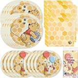 Unique Disney Winnie The Pooh Dinnerware Party Bundle | Luncheon Napkins, Dinner & Dessert Plates, Table Cover | Great for Th