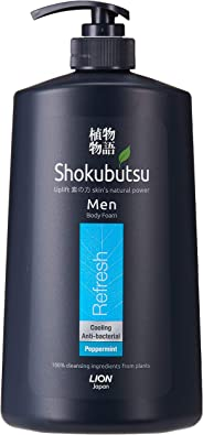 Shokubutsu Men Body Foam, Refresh, 900ml