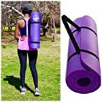 Yoga MAT Premium Extra Thick Non Slip Exercise MAT for Pilates, Stretching, Aerobic and Fitness Workouts