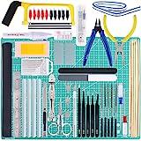 Keadic 87Pcs Modeler Basic Tools Craft Set Gundam Model Tools Kit with Plastic Box and Waterproof Bag for Gundam Car Model Bu