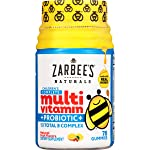 Zarbee's Naturals Children's Complete Multivitamin + Probiotic Gummies with our Total B Complex and Essential Vitamins...