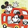 ディズニー ドライブ中のミッキー,ミニー iPad壁紙