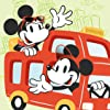 ディズニー - ドライブ中のミッキー,ミニー iPad壁紙 74454