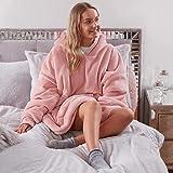 Sienna Hoodie Blanket Ultra Soft Sherpa Fleece Warm Cosy Comfy Oversized Wearable Giant Sweatshirt Throw for Women Girls Adul