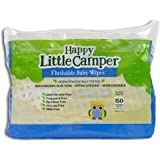 Happy Little Camper x Hilary Duff Gentle Hypoallergenic and Dermatalogically Tested Natural Flushable Septic Safe wipes with