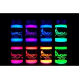 Midnight Glo UV Paint Acrylic Black Light Reactive Bright Neon Colors Set of 8 Bottles Great for Crafts, Art & DIY Projects,