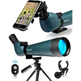 CREATIVE XP Spotting Scope with Tripod 20-60x80mm - BAK 4 Prism Spotting Scopes for Target Shooting Hunting Astronomy Bird Wa