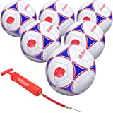 GoSports Premier Soccer Ball with Premium Pump - Available as Single Balls or 6 Packs - Choose Your Size