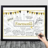 Going Away Party Decorations, Goodbye Card Guest Book Alternative Great Moving We Will Miss You Party Present for Office Cowo