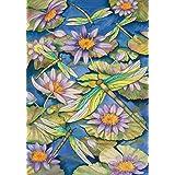 """Toland Home Garden 110007 Waterlilies & Dragonflies 12.5 x 18 Inch Decorative, Garden Flag-12.5"""" x18"""""""