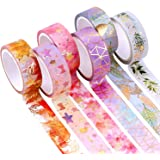 YUBX Gold Washi Tape Set VSCO Foil Decorative Tape for DIY Crafts, Bullet Journals, Planners, Scrapbooking, Wrapping