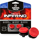 KontrolFreek FPS Freek Inferno for Playstation 4 (PS4) and PlayStation 5 (PS5) | Performance Thumbsticks | 2 High-Rise Concav