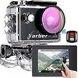 【4K/30FPS】Yarberアクションカメラ EIS 手ブレ補正 リモコン付き Wi-Fi搭載 水深40m撮影 170度広角レンズ 2インチ液晶画面 豊富なアクセサリー 水中カメラ/スポーツカメラ/安定化カメラ/自転車/車に取り付け可能 IOS/