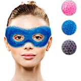 Gel Eye Mask with Eye Holes- Hot Cold Compress Pack Eye Therapy | Cooling Eye Mask for Puffy Eyes, Dry Eyes, Headaches, Migra
