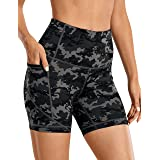 CRZ YOGA Women's Biker Shorts Workout for Women Naked Feeling Athletic Yoga Shorts Tights with Side Pockets-5 Inches
