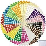 """3920 pcs 3/4"""" Round Coding Circle Dot Labels, 14 Colors"""