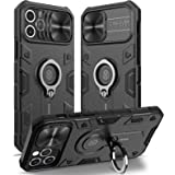 Nillkin Compatible with Case iPhone 12 Pro Max 6.7 inch - Military Grade Case with 360° Kickstand Ring Stand and Slide Camera