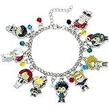 Bloomytree My Hero Academia Fashion Novelty Charm Bracelet Anime Manga Series