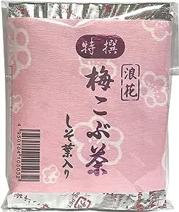 【缶なしエコパック】しそ葉入り特選 浪花 梅こぶ茶 ( 40g x 2 袋 )