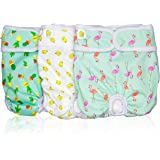 Pet Magasin Luxury Reusable Dog Diapers (3-Pack) - Durable & Washable Sanitary Wraps Panties for Female Pets with Strong & Fl