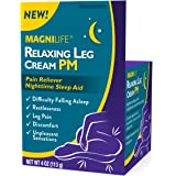 MagniLife Relaxing Leg Cream Pain PM Relief & Sleep Aid For Restless Legs, Cramping, Discomfort & Tossing - Natural Soothing,
