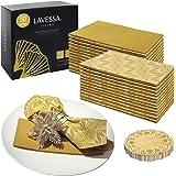 Gold Napkins Disposable - Paper Napkins Decorative - 50 Linen Like Disposable Dinner Napkins - Large Gold Napkins Like Cloth