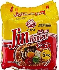 Ottogi Jin Ramen Spicy, 5 x 120g