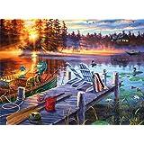Buffalo Games - Darrell Bush - Morning Magic - 300 LARGE Piece Jigsaw Puzzle