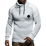 Leif Nelson Men痴 Knitted Pullover Jumper Sweater Hoodie Long Sleeve Slim fit