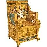 Design Toscano QL14557 King TUT Golden Throne Treasure Box, Full Color