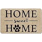 Artoid Mode Home Sweet Home Paw Decorative Doormat, Pet Dog Cat Low-Profile Floor Mat Switch Mat for Indoor Outdoor 17 x 29 I