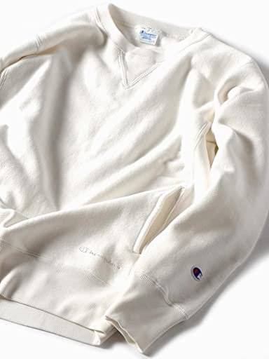 Reverse Weave Crewneck Sweat Shirt 112-55-0015: Off White