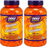 Newサイズ 240 ベジカプセル x 2個セット アルギニン 500 mg & シトルリン 250 mg