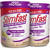SlimFast Advanced Nutrition Vanilla Cream Smoothie Mix – Weight Loss Meal Replacement – 20g Protein – 12 Servings (Pack of 2)
