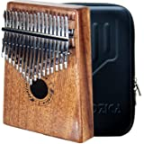 Moozica 17 Keys Kalimba Thumb Piano, Tone Wood Marimba with Professional Kalimba Case and Learning Instruction (Mahogany-K17M