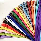 50pcs mix Nylon Coil Zippers Tailor Sewer Craft (41cm ) Crafter's & FGDQRS ( 20/colour)
