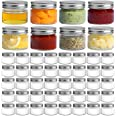 ComSaf Mason Jars with Airtight Metal Regular Lids(5oz/150ml), Sealed Clear Glass Canning Jars with Wide Mouth for Spices, Ho