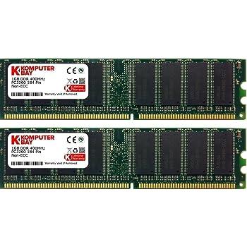 Komputerbay 2GB (2× 1GB) DDR DIMM (184 ピン) 400Mhz PC3200 CL3 デスクトップPCのメモリ (2× 1ギガバイト)